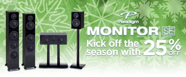 Paradigm Monitor SE Series 25% Off
