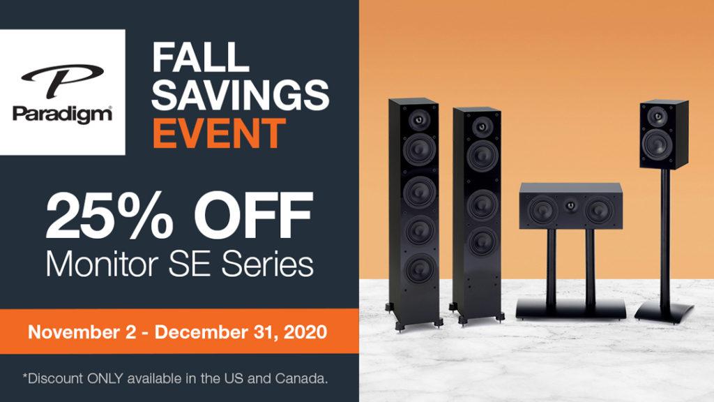 25% Off Paradigm Monitor SE Series Speakers
